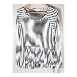 BP || Striped Pelpum Shirt